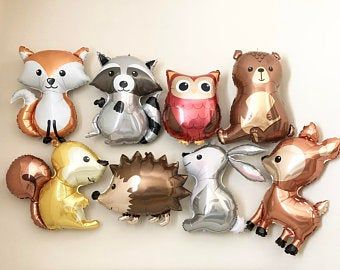 Party Animals, Balloon Animals, Animal Party, Animal Balloons, Jumbo Balloons, Baby Girl Shower Themes, Baby Shower Decorations For Boys, Baby Boy Shower, Forest Baby Showers