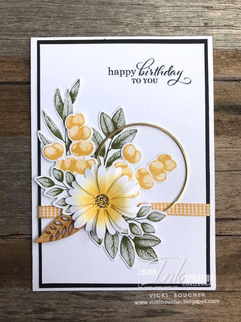 Hand Made Greeting Cards, Making Greeting Cards, Greeting Cards Handmade, Make Up Artist Ausbildung, Tarjetas Stampin Up, Flower Cards, Birthday Cards With Flowers, Stampin Up Catalog, Stamping Up Cards
