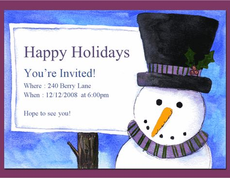 Printable Holiday Invitation Templates \u2013 Invitation Templates Word