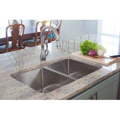 Franke Vector Stainless Steel 43 L X 23 W Drop In Kitchen Sink With Basket Strainer In 2021 Drop In Kitchen Sink Kitchen Sink Design Simple Kitchen
