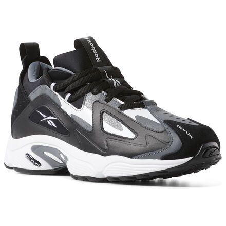 Reebok Shoes Men's DMX Series 1200 in BlackAlloyWhite Size