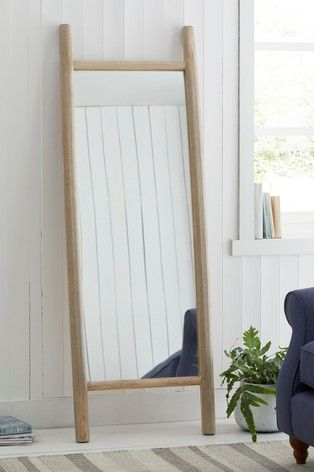 Wooden Floor Leaning Mirror In 2020 Wooden Flooring Country
