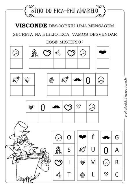 Atividades De Alfabetizacao E Matematica Sitio Picapau Amarelo