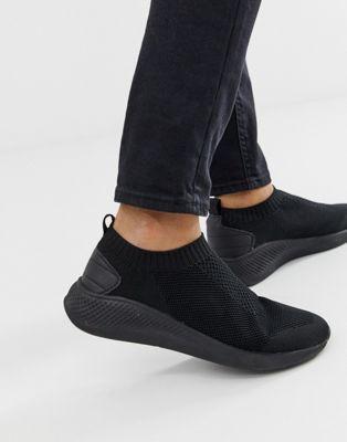 ASOS DESIGN slip on sock trainers in