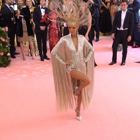 #Carpet #Celine #Dion #Fringed #Gala #Leotard #Mét #Red #Sparkly #Wore       #CelineDion wore a sparkly fringed leotard on the #MetGala red carpet. #CelineDionFashion #MetGalaFashion