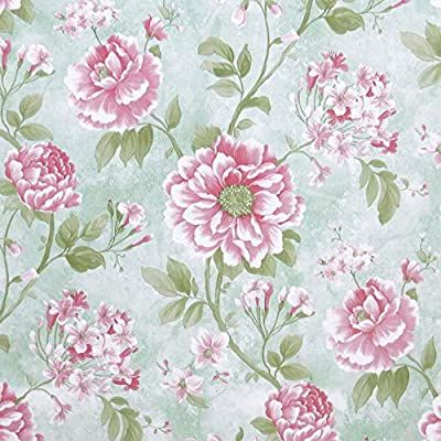 Flower Peel And Stick Wallpaper Flower Contact Paper Decorative Removable Wallpaper Vintage Floral Wallp Vintage Floral Wallpapers Vinyl Paper Floral Wallpaper Floral peel and stick wallpaper amazon