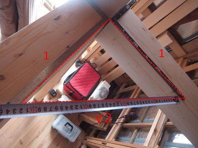 ロフトの内側に火打梁 ひうちはり を取り付けるべく 部品作りから