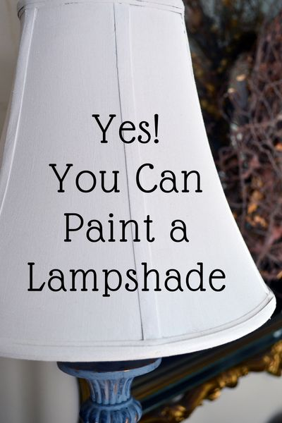 You can paint a Lampshade. - Did you know that you can paint a lamp shade? I will show you how to completely change the look of your favorite lamp and lampshade using chalk paint. Old Lamp Shades, Painting Lamp Shades, Painting Lamps, Diy Painting, Recover Lamp Shades, Paint Shades, Roman Shades, Lamp Redo, Lamp Makeover