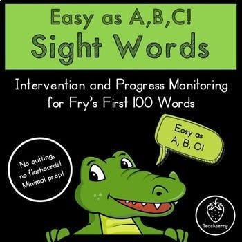 Fry 100 Sight Word Intervention and Progress Monitoring