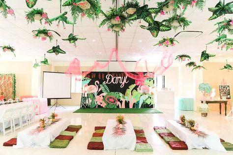 Tropical Flamingo Paradise Party Kara S Party Ideas Flamingo Birthday Party Tropical Birthday Party Karas Party Ideas