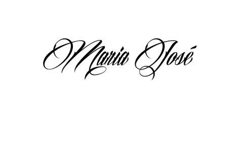 Tatuagem do nome Maria José utilizando o estilo Billion Stars