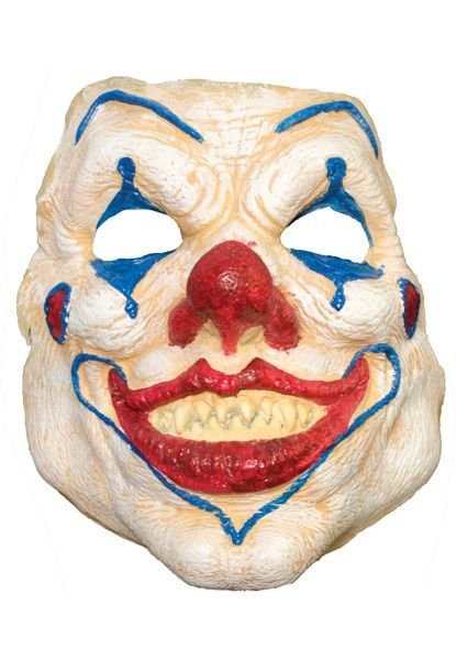 FUNNY HAPPY SMILING FACE RED NOSE CIRCUS CLOWN MASK FANCY DRESS COSTUME PARTY