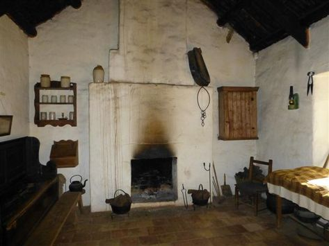 Irish Cottage Interior Living Room Kitchen