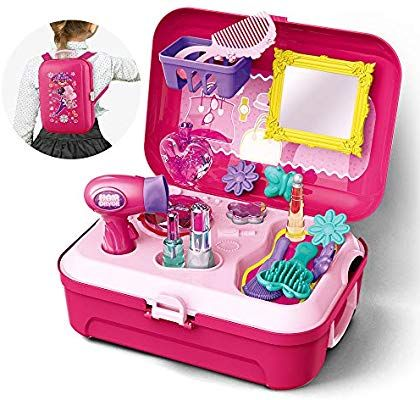 Gizmovine Schminkset Madchen Madchen Spielzeug Pretend Play Makeup Set Spielzeug Mit Rucksack Madchen Spielzeug Prinzessin Spielzeug Spielzeug Fur Kleinkinder