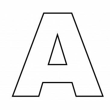 Buchstaben Vorlage Druckbuchstaben Buchstaben 1