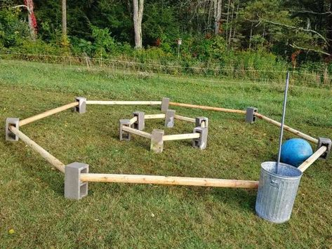 We really enjoy mixing up normal ring riding in the winter with obstacles. These obstacles do a number of things: help us build trust with our equine partners,break up the routine ring work, andhel… Horse Training Tips, Horse Tips, Toys For Horses, Truck Bed Liner, Cross Country Jumps, Horse Exercises, Horse Camp, Dressage Horses, Obstacle Course