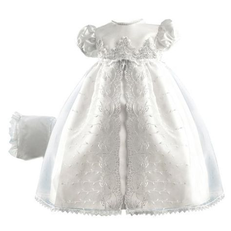 a2f2c66ad Baby girl clothes#42% discount#Lauren Madison baby girl Christening Baptism  Special occasion Newborn Embroidered Organza Satin dress gown , White, 0-3  ...
