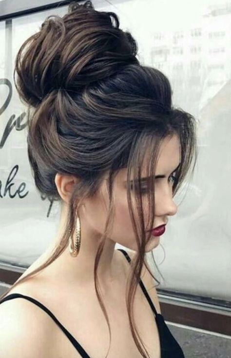 Beautiful big bun ✨ . . #manentail #manentailbeauty #discoverthesecret #longha... #Beautiful #big #bun #discoverthesecret #longha #manentail #manentailbeauty # dutch Braids brunette