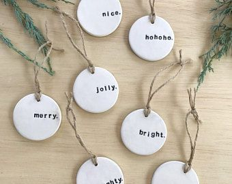 Most up-to-date Cost-Free simple clay ornaments Thoughts PRE-ORDER: Christmas Gift Tag, Unique Gift Tag, Tree Ornament, Clay Gift Decoration, Handmade Gift Clay Christmas Decorations, Christmas Clay, Diy Christmas Ornaments, Diy Christmas Gifts, Homemade Ornaments, Homemade Christmas, Christmas Tree, Navidad Diy, Handmade Gift Tags