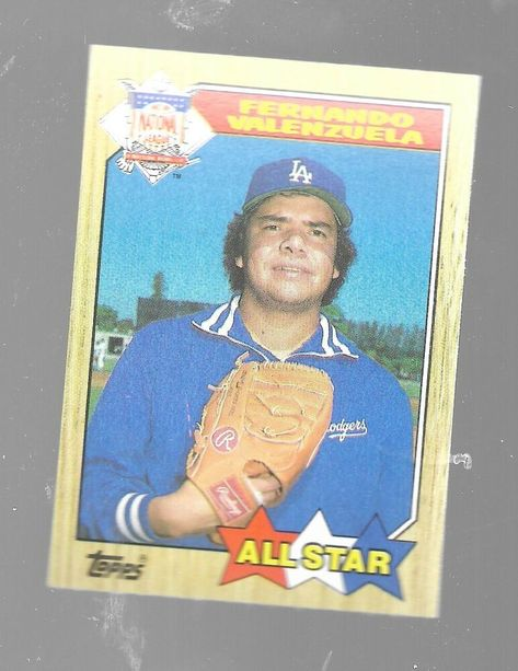 1987 Topps All Star Fernando Valenzuela 604 Los Angeles Dodgers Baseball Card Losangelesdodg In 2020 Dodgers Baseball Los Angeles Dodgers Baseball Los Angeles Dodgers