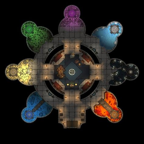 @ Portal Hideout - We're starting a new homebrew campaign that will send players hunting for artifacts across multiple worlds. This is going to be their home base for the near future.