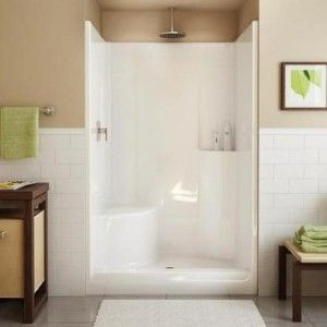 Tub And Shower Inserts. We re switching to a fiberglass shower stall kit because we ve had it with  leaking tile jobs Love how this photo dresses ready up by fram