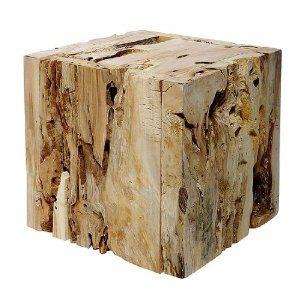 Deko-Woerner Würfel Holz natur, 35x35x35cm: Amazon.de: Küche & Haushalt