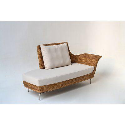 Bloomsbury Market Ates Recamiere Patio Sofa With Cushions Sofa