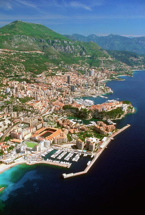 Vertical Photograph - Aerial View Of A City, Monte Carlo, Monaco, France by Medioimages/Photodisc Monte Carlo Monaco, Cannes, Places To Travel, Places To See, Travel Destinations, Travel Tips, Travel Info, Dream Vacations, Vacation Spots