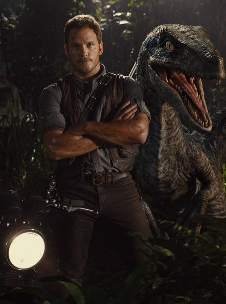 Pratt. Pratt. Pratt and his raptors, I don't understand why people like T-Rex, he's nothing compared to a raptor!