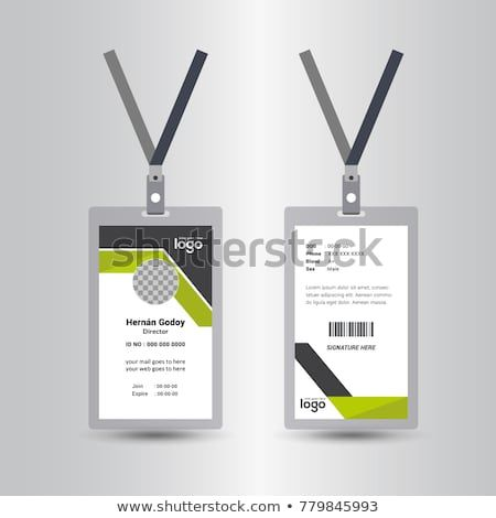 Free Psd Vertical Company Identity Card Template Psd Id Card Template Card Template Business Card Mock Up