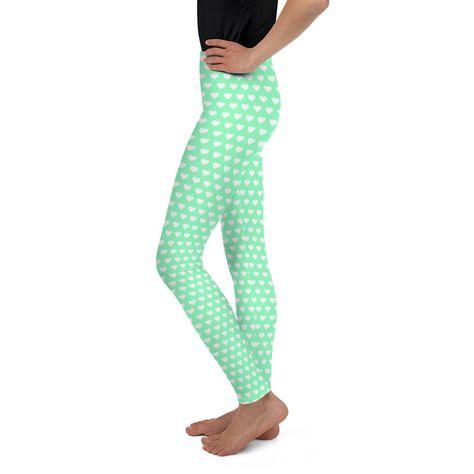 7253463a4 Mint Green Youth Leggings