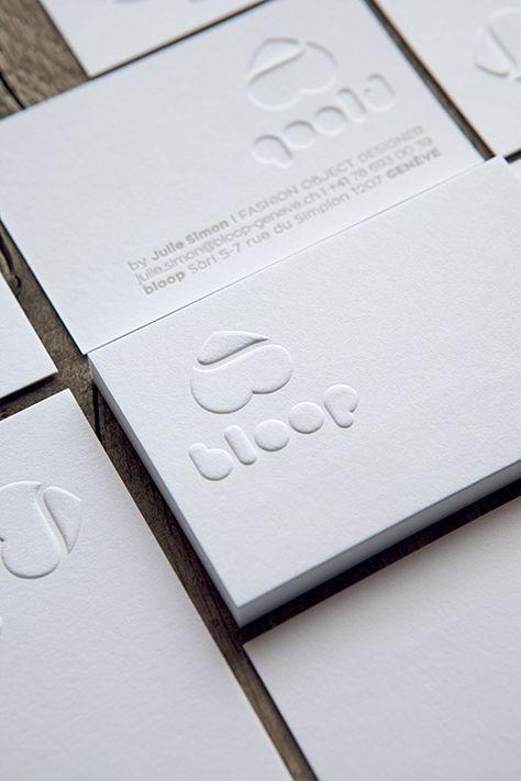 Cartes De Visite En Gaufrage Pour Une Designer Sur Papier Coton