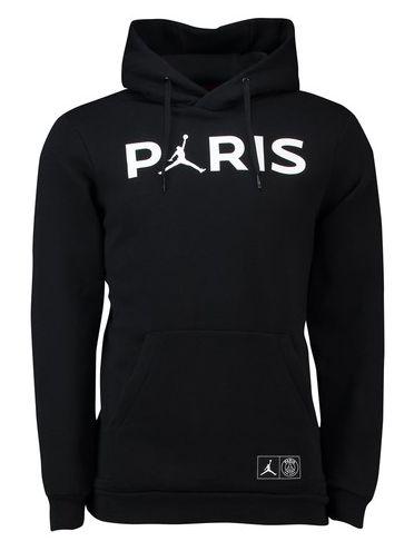 20ec8180c94251 PSG 2018-19 Top Jordan Black Soccer Sweatshirts Hoodies  N23 ...