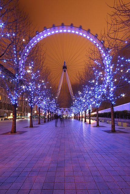 London Eye at Night, London (England)