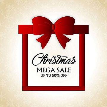 Christmas Mega Sale With Gift Box Vector Christmas Icons Box Icons Gift Icons Png And Vector With Transparent Background For Free Download In 2020 Gift Vector Box Icon Christmas Box