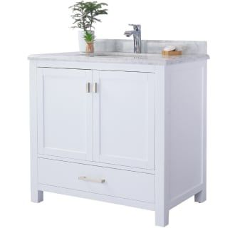Miseno Mv Prm36w Wc White Carrara White Top Prim 36 Free Standing Vanity Set With White Solid Oak Cabinet Quartz Or Marble Top And Undermount Sink Mirror In 2020 Oak Cabinets