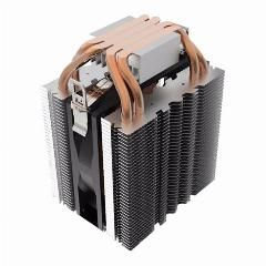Cpu Cooler Fan 4 Heatpipe Radiator Blue Led Hydraulic Bearing