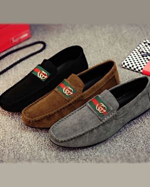 GUCCI SUEDE DRIVING MOCCASIN CASUAL MEN