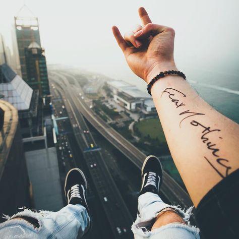 Fear Nothing Temporary Tattoo Sticker (Set of - Best Tattoos Ideas