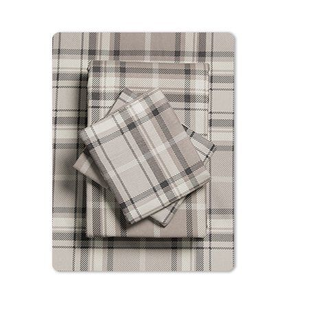 Mainstays Grey Plaid 155 Gsm 100 Cotton Flannel Sheet Set King In 2020 Sheet Sets Flannel Bed Sheets Comfy Sheets