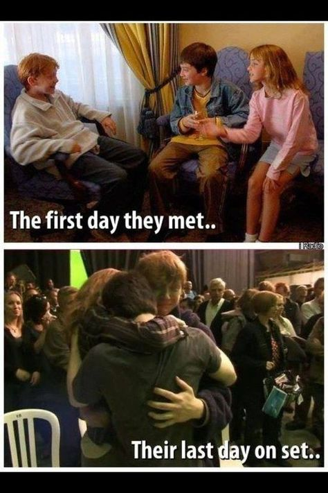 """Seeing how close the three became from 10 years of filming.   29 Times Tumblr Made """"Harry Potter"""" Fans Cry All Over Again"""