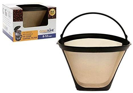 Goldtone Brand Reusable 4 Cone Style Replacment Cuisinart Coffee Filter Replaces Your Permanent Cuisina Coffee Filters Ninja Coffee Bar Reusable Coffee Filter