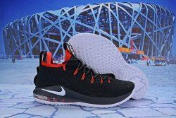 watch 41296 a2dbc Nike LeBron 15 Low Black Red White AO1755 608 Men's ...