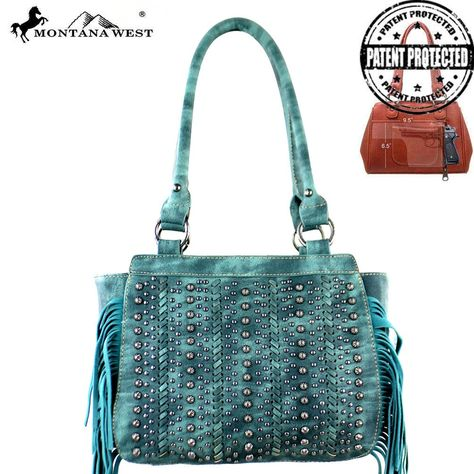 MW376G-8250 Montana West Fringe Collection Concealed Handgun Tote-Turquoise  #western #momtanawest #west #handbaloverusa #rustic #rusty #country #purse #countrygirl #cattle #american #cowgirl #texas #texan #USA #cowgirl #cattle #countryside #countrylife #gun #guncarry #aztec