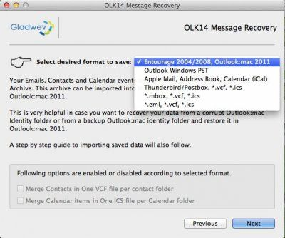 OLK14 Message Recovery Tool Recover your Mac Outlook mail