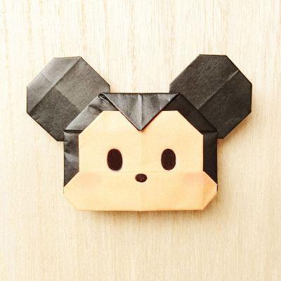 今回は 指人形としても遊べる 折り紙の ミッキーマウス を作ります キャラクターものは絵心がないから苦手で という方も こちらの ミッキーマウス ならカンタン 人気の ツムツム 風で顔を書くので 簡単に書けますよ ぜひ作ってみて下さいね ツムツム
