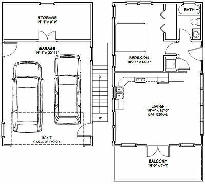 Details About 20x32 House 1 Bedroom 4 12 Roof Pitch Pdf Floor Plan Model 7d In 2020 Garage Apartment Plans Apartment Plans House Plans