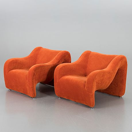 A Par Of Corneus Armchairs By Jan Ekselius Peter Rosing 1975