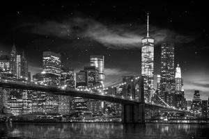 Framed Freedom Tower New York Manhattan Black /& White Poster New
